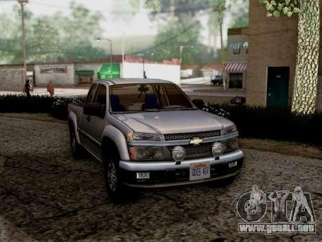 Chevrolet Colorado para GTA San Andreas left
