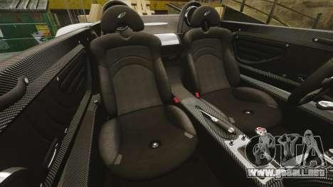 Pagani Zonda C12 S Roadster 2001 PJ2 para GTA 4 vista lateral