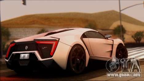 W Motors Lykan Hypersport 2013 para GTA San Andreas left