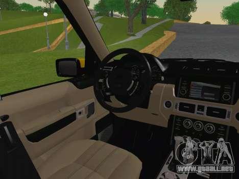 Range Rover Supercharged Series III para vista inferior GTA San Andreas