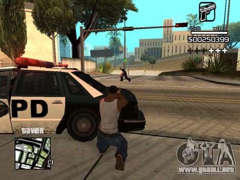 C-HUD By Kapo para GTA San Andreas octavo de pantalla