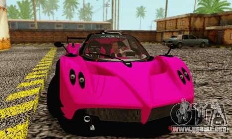 Pagani Zonda Type R Pink para GTA San Andreas left