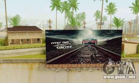 Nuevo de alta calidad de la publicidad en los ca para GTA San Andreas segunda pantalla