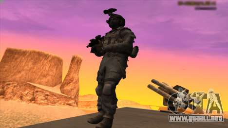 Sgt Keegan P.Russ из De Call of Duty: Ghosts para GTA San Andreas quinta pantalla