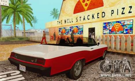 Gta 5 Bucanero actualizado para la visión correcta GTA San Andreas