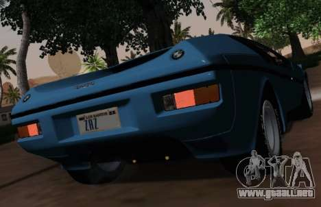 BMW M1 Turbo 1972 para visión interna GTA San Andreas