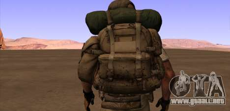 Рюкзак из MOH Warfighter para GTA San Andreas sucesivamente de pantalla