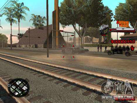 C-HUD Admins Team para GTA San Andreas sucesivamente de pantalla