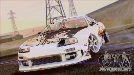 Toyota Supra 1998 Top Secret para GTA San Andreas vista hacia atrás