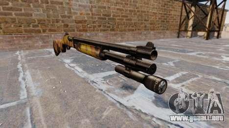 Riot escopeta Remington 870 Caída Camuflaje para GTA 4