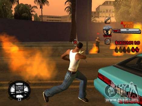 C-HUD Admins Team para GTA San Andreas décimo de pantalla