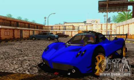 Pagani Zonda Type R Blue para visión interna GTA San Andreas