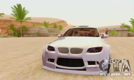 BMW M3 E92 SHD Tuning para GTA San Andreas left