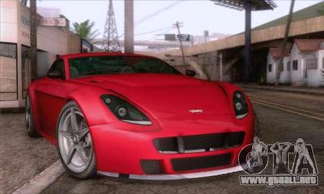GTA V Rapid GT para GTA San Andreas vista posterior izquierda