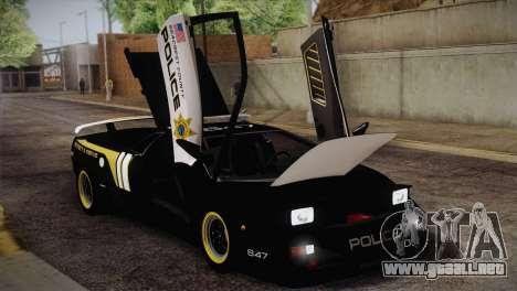 Lamborghini Diablo SV NFS HP Police Car para visión interna GTA San Andreas