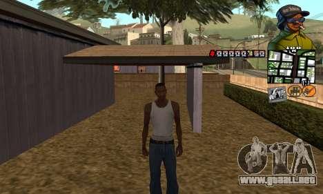 C-HUD Rider para GTA San Andreas segunda pantalla