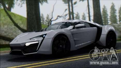 W Motors Lykan Hypersport 2013 para GTA San Andreas
