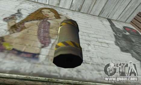 Granate de Ser Nukem para GTA San Andreas segunda pantalla