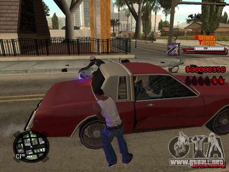 C-HUD Admins Team para GTA San Andreas quinta pantalla