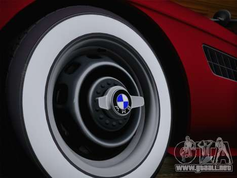 BMW 507 1959 Stock para GTA San Andreas vista posterior izquierda