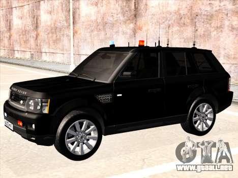 Range Rover Sport para GTA San Andreas vista posterior izquierda