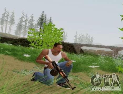 Kalashnikov Luz Ametralladora para GTA San Andreas sucesivamente de pantalla