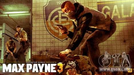 Inicio pantallas de Max Payne 3 HD para GTA San Andreas segunda pantalla
