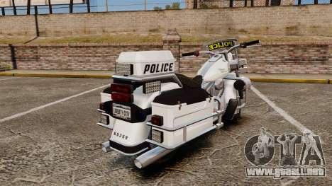 GTA V Western Motorcycle Police Bike para GTA 4 visión correcta