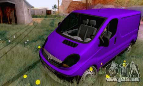 Opel Vivaro para GTA San Andreas left
