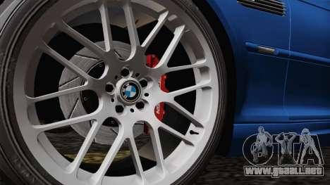 BMW M3 E46 GTR 2005 para GTA San Andreas vista hacia atrás