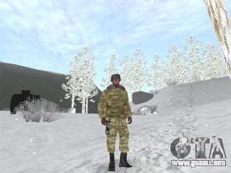 Pak ejército ruso de servicio para GTA San Andreas quinta pantalla