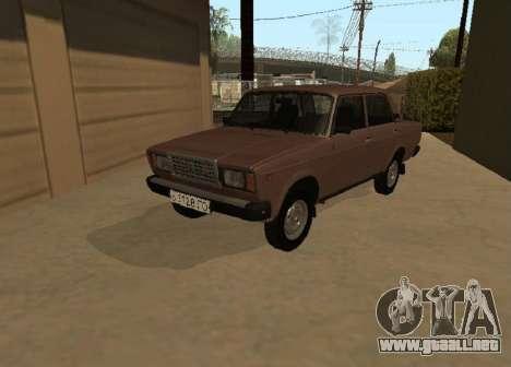 VAZ 2107 versión Temprana para GTA San Andreas