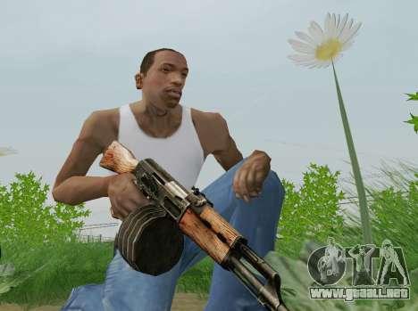Kalashnikov Luz Ametralladora para GTA San Andreas quinta pantalla