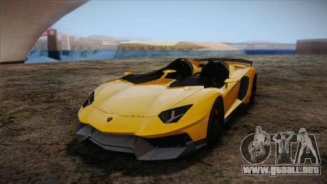 Lamborghini Aventandor J 2010 para visión interna GTA San Andreas