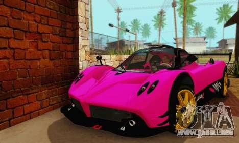 Pagani Zonda Type R Pink para la visión correcta GTA San Andreas