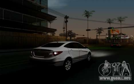 Hyundai Solaris para visión interna GTA San Andreas