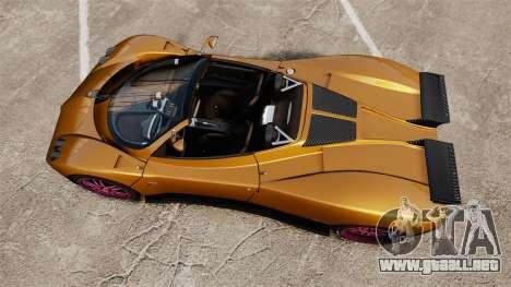 Pagani Zonda C12 S Roadster 2001 PJ2 para GTA 4 visión correcta