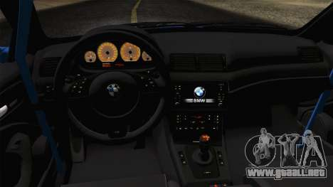 BMW M3 E46 GTR 2005 para la visión correcta GTA San Andreas