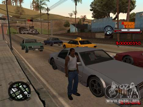 C-HUD Admins Team para GTA San Andreas segunda pantalla