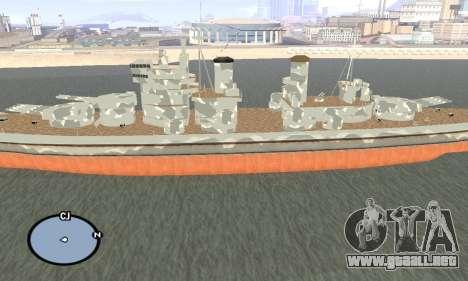 HMS Prince of Wales para GTA San Andreas segunda pantalla
