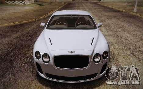 Bentley Continental SuperSports 2010 v2 Finale para visión interna GTA San Andreas