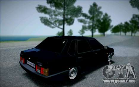 VAZ 21099 el Bandido para GTA San Andreas vista posterior izquierda