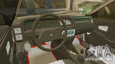 Citroen Xantia para GTA 4 vista hacia atrás
