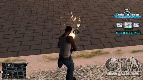 C-HUD RJ Aztecaz para GTA San Andreas tercera pantalla