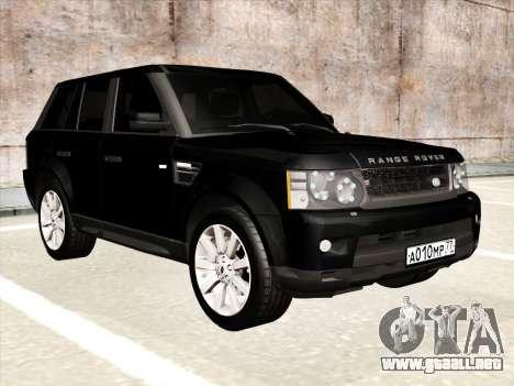 Range Rover Sport para visión interna GTA San Andreas
