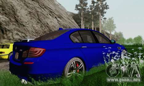 BMW F10 M5 2012 Stock para la vista superior GTA San Andreas