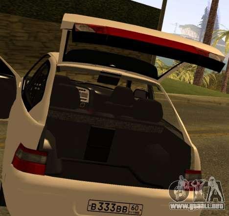 ВАЗ 2112 GVR Versión 1.1 para GTA San Andreas vista hacia atrás