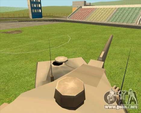 RhinoKnappe auf. 128mm Zenit-Waffe para GTA San Andreas vista posterior izquierda