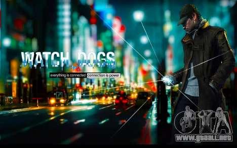 Arranque de las pantallas y menús de Watch Dogs para GTA San Andreas