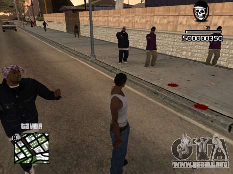C-HUD By Kapo para GTA San Andreas segunda pantalla